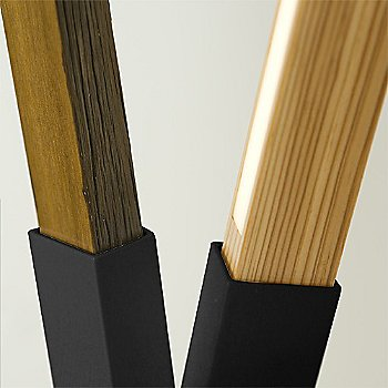 Matte Black finish with Maple, Walnut and Yellow Pine Mix / Detail view