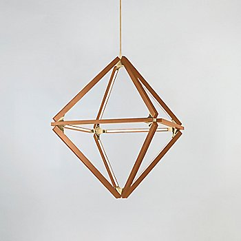 Heart Pine, Polished Brass finish