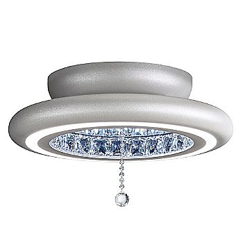 Shown in Glimmer Silver finish, Medium size