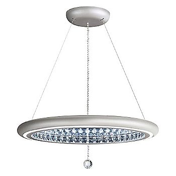 Shown in Glimmer Silver finish, Large size