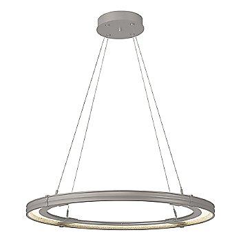 Natural Iron FInish / Burnished Steel Accent Finish / Large Hanging Length