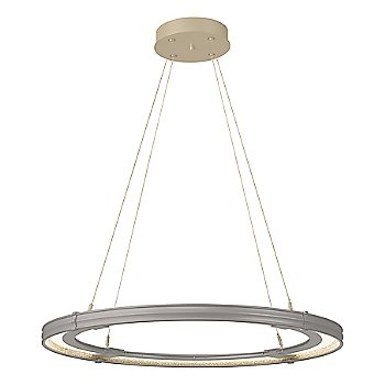 Natural Iron FInish / Soft Gold Accent Finish / Large Hanging Length