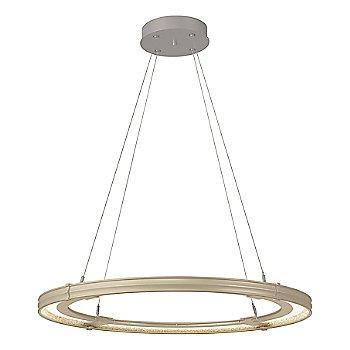 Soft Gold FInish / Burnished Steel Accent Finish / Large Hanging Length
