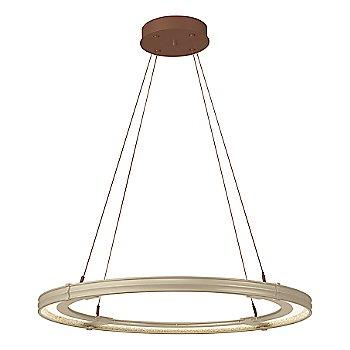 Soft Gold FInish / Mahogany Accent Finish / Large Hanging Length