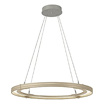 Soft Gold FInish / Natural Iron Accent Finish / Large Hanging Length