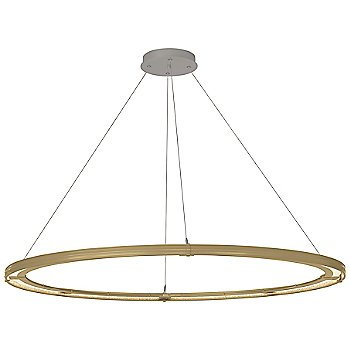 Gold FInish / Burnished Steel Accent Finish / Standard Hanging Length