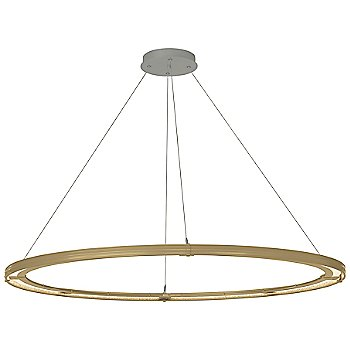 Gold FInish / Natural Iron Accent Finish / Standard Hanging Length