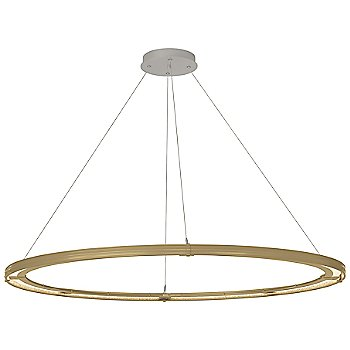 Gold FInish / Vintage Platinum Accent Finish / Standard Hanging Length