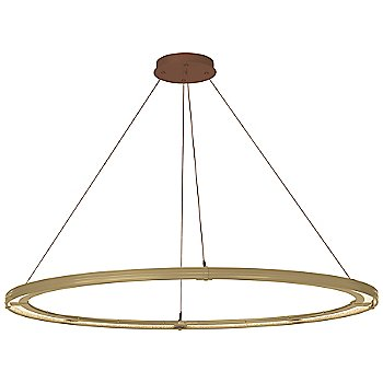 Gold FInish / Mahogany Accent Finish / Standard Hanging Length