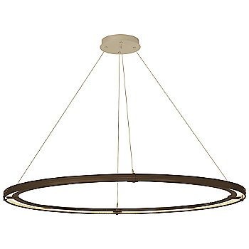 Bronze FInish / Soft Gold Accent Finish / Standard Hanging Length