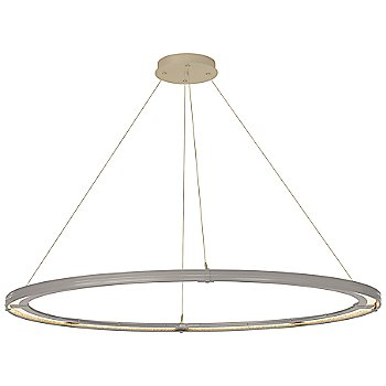 Burnished Steel FInish / Soft Gold Accent Finish / Standard Hanging Length