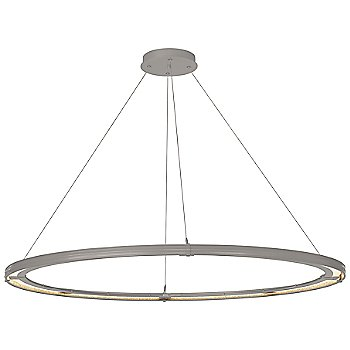 Natural Iron FInish / Burnished Steel Accent Finish / Standard Hanging Length