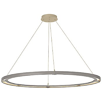 Natural Iron FInish / Soft Gold Accent Finish / Standard Hanging Length