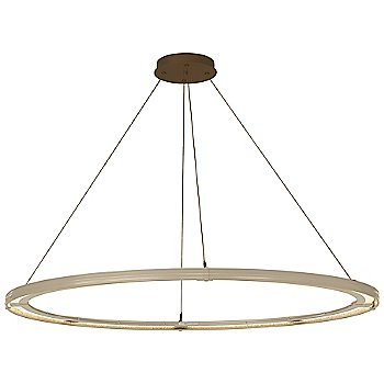 Soft Gold FInish / Bronze Accent Finish / Standard Hanging Length