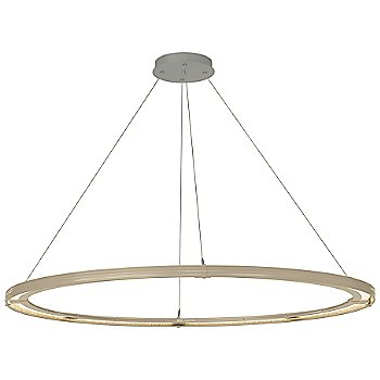 Soft Gold FInish / Natural Iron Accent Finish / Standard Hanging Length