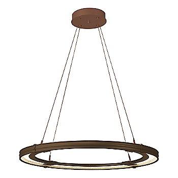 Bronze FInish / Mahogany Accent Finish / Large Hanging Length