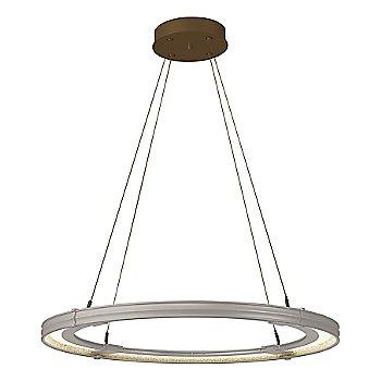 Burnished Steel FInish / Bronze Accent Finish / Large Hanging Length
