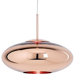 Copper Shade Wide Pendant Light