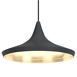 Beat Wide Pendant Shade by Tom Dixon (Black)-OPEN BOX RETURN