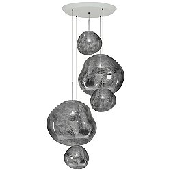 Melt Large Round Multi-Light Pendant Light
