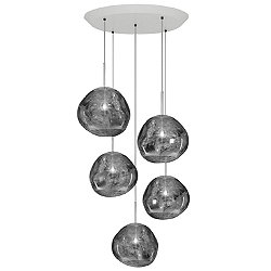 Melt Mini Round Multi-Light Pendant Light