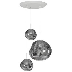 Melt Trio Round Multi-Light Pendant Light
