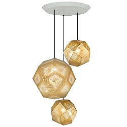 Etch Trio Round Multi-Light Pendant Light