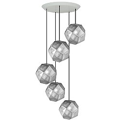 Etch Round Multi-Light Pendant Light