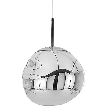 Shown unlit in Chrome finish, Small size