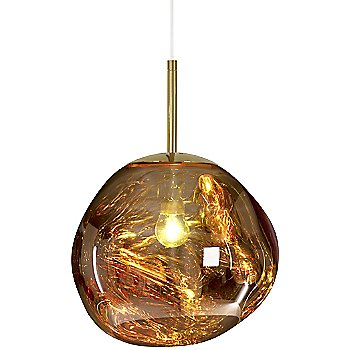 Shown lit in Gold finish, Small size