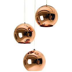 Copper 25 3 Light Multipoint Pendant