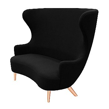 Side view with Black Halingdal Fabric and Copper Legs