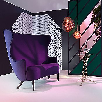 Wingback Sofa with Pylon Side Table