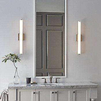 Satin Nickel finish / illuminated / in use
