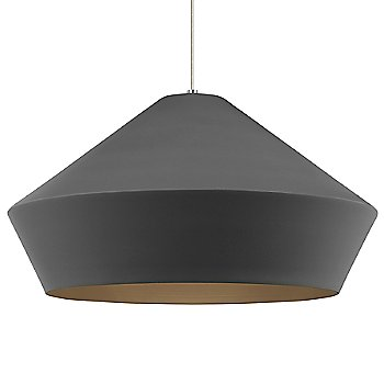 Shown in Charcoal Gray color, Satin Nickel finish