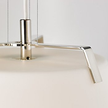 Shown in Polished Nickel / White finish
