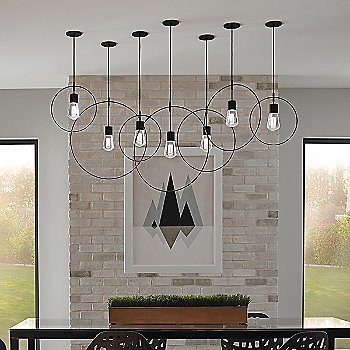 Shown in Black finish with Alva Pendant