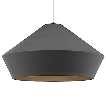 Charcoal Gray shade / Satin Nickel finish