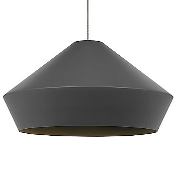 Charcoal Gray shade / Chrome finish