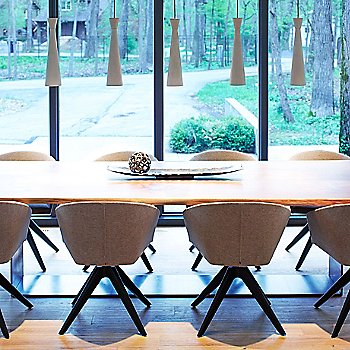 Concrete shade color, grouping in use above dining table