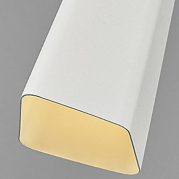 Textured White shade / Satin Nickel finish
