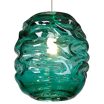 Shown in Surf Green glass color, Satin Nickel finish