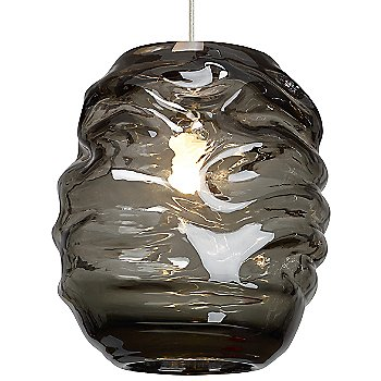 Shown in Smoke glass color, Satin Nickel finish
