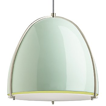 Mint and Satin Nickel shade color