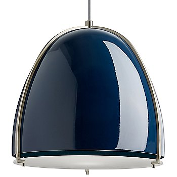 Blue and Satin Nickel shade color