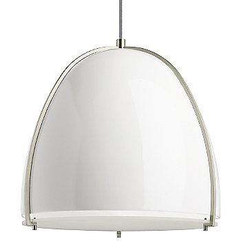 Gloss White and Satin Nickel shade color
