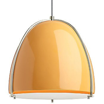 Tangerine and Satin Nickel shade color