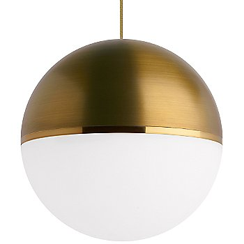 Aged Brass/Bright Brass shade with Aged Brass finish