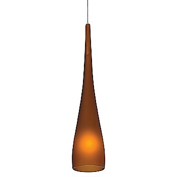 Shown in Amber shade with Satin Nickel finish, Small size