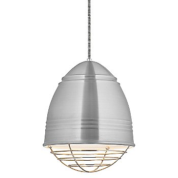 Shown in Brushed Aluminum with Polished Nickel option